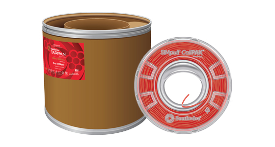 Fire Alarm Cable in SIMpull® CoilPAK™ Wire Payoff and SIMpull BARREL™ Cable Drum