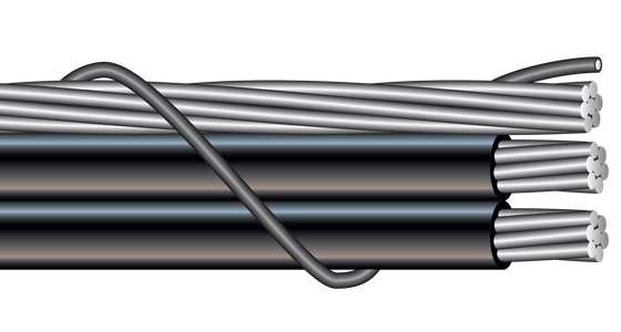 Neutral-Supported Parallel Aerial Cable (PAC)
