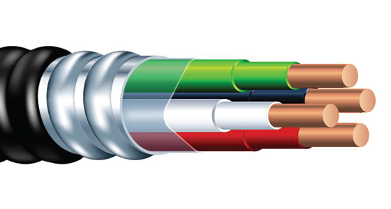 Armorlite Type MC - PVC Jacketed Cable