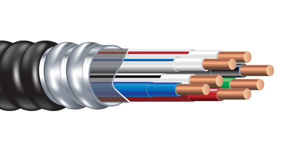 Armorlite Type MC PVC Jacketed Neutral Per Phase Cable